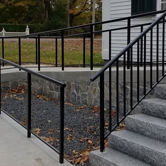 Extensive Iron Railings for Steps and Handicap Ramp at a Church
