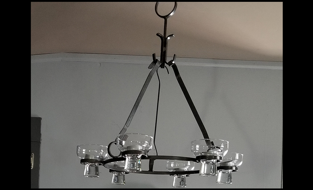 Custom Iron Chandelier Modification