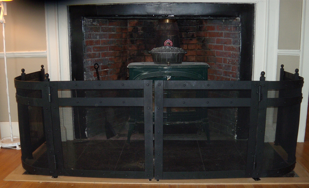 Custom Iron Fireplace Insert