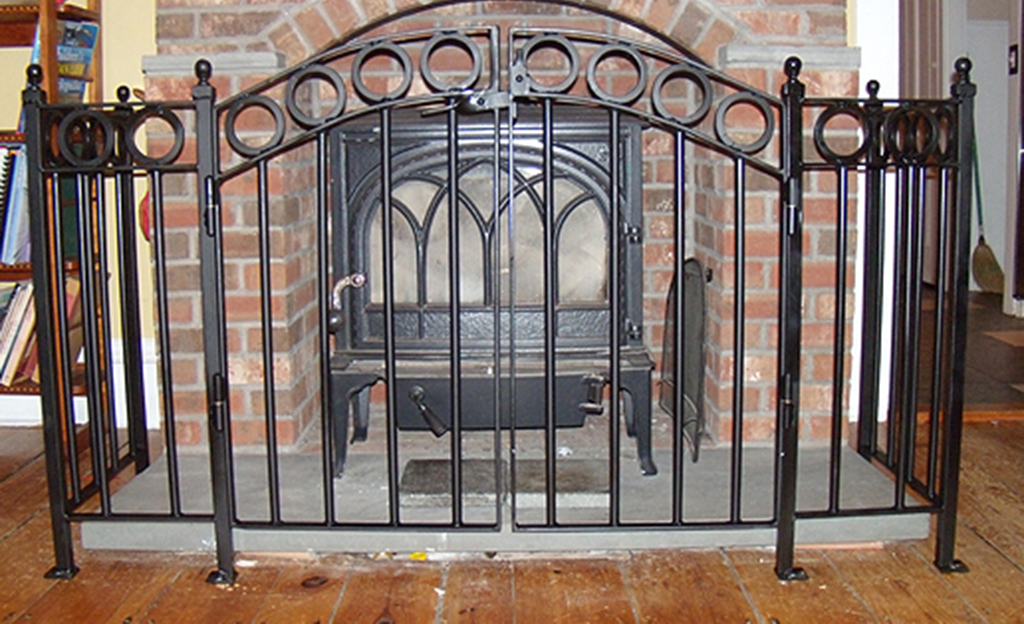 Custom Iron Fireplace Screen
