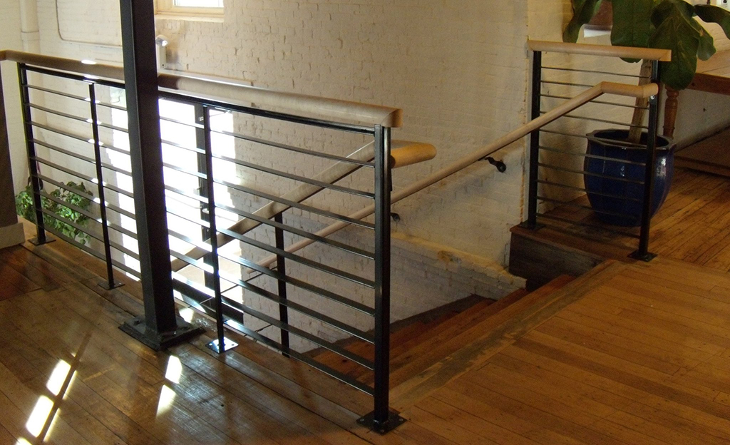 Iron Rails with Wooden Grab Bars