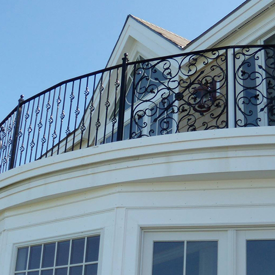 Iron Picket Fence for a Balcony