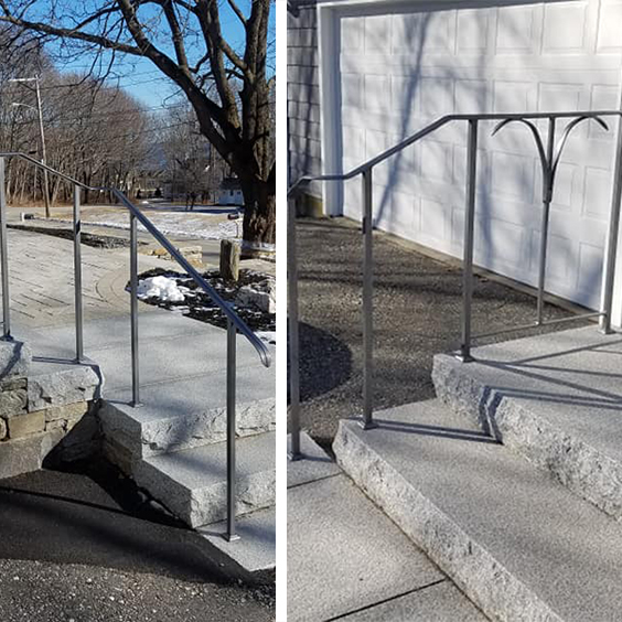 Curved Iron Handrails